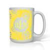 Personalized White Mug  15 oz.Asian Elements - VerbenaVine Monogram