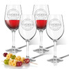Tritan Wine Stems 12 oz (Set of 4) : Collegiate Sports Logo