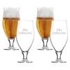 SET of 4 16oz CERVOISE GLASSES -PERSONALIZED