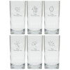 PERSONALIZED LEAVES COOLER: SET OF 6 (Glass)