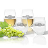 Stemless Wine Tumbler  (Set of 4): Sports Food Drink Banner