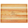 "Large Master Cutting Board 20"" X 14.5"" - Personalized Give Thanks and Eat"