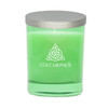 Emerald Soy Glass Candle - Celtic Knot and Celtic Name