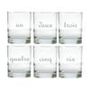 UN DEUX TROIS OLD FASHIONED - SET OF 6 GLASS