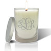 Soy Glass Candle - Vine Monogram