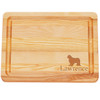"""Small Master Cutting Board 10"""" X 7.5"""" - Personalized Dog Silhouette"""
