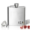 Stainless Steel Hip Flask (8 oz) Personalized to your desire.  Lower corner monogram