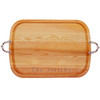 """EVERYDAY COLLECTION: 21"""" x 15"""" LARGE SERVING TRAY WITH NOUVEAU HANDLES -PERSONALIZED"""