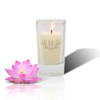 Soy Glass Votive Candle - Antler with Single Initial