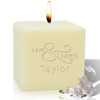 """4"""" Soy Pillar Candle - Mr & Mrs"""