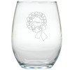 PERSONALIZED NAME WREATH WINE STEMLESS TUMBLER - SET OF 4 (GLASS)