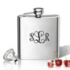 Stainless Steel Hip Flask (8 oz) Personalized to your desire.  Monogram V2