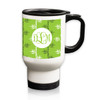 Personalized White Stainless Steel Travel Mug - 14 oz.Asian Elements - Green TeaVine Monogram