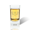 Shot/Dessert Glass Set of 4 : Antler w/ Initial