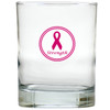 BREAST CANCER AWARENESS OLD FASHIONED - SET OF 6 GLASS