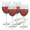 WINE STEMWARE - SET OF 4 (GLASS) : LOVE KISS HUG ADORE