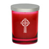 Ruby Soy Glass Candle - Celtic Cross