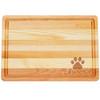 "Medium Master Cutting Boards 14.5"" X 10"" - Personalized Paw Print"