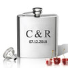 Stainless Steel Hip Flask (8 oz) Personalized to your desire.