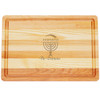 "Medium Master Cutting Boards 14.5"" X 10"" - Personalized Menorah"