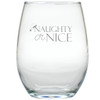 NAUGHTY OR NICE SANTA HAT WINE STEMLESS TUMBLER - SET OF 4 (GLASS)