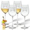 PERSONALIZED OARS WINE STEMWARE - SET OF 4 (GLASS)