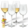 Pineapple Wineglass - Set of Four