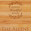 Cutting Board - Personalized (GRATEFUL BLESSED NAME)