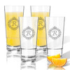 ICON PICKER Personalized Tritan Highball (Cooler) Glasses 16 oz (Set of 4)(Initial/Monogram Prime Design)