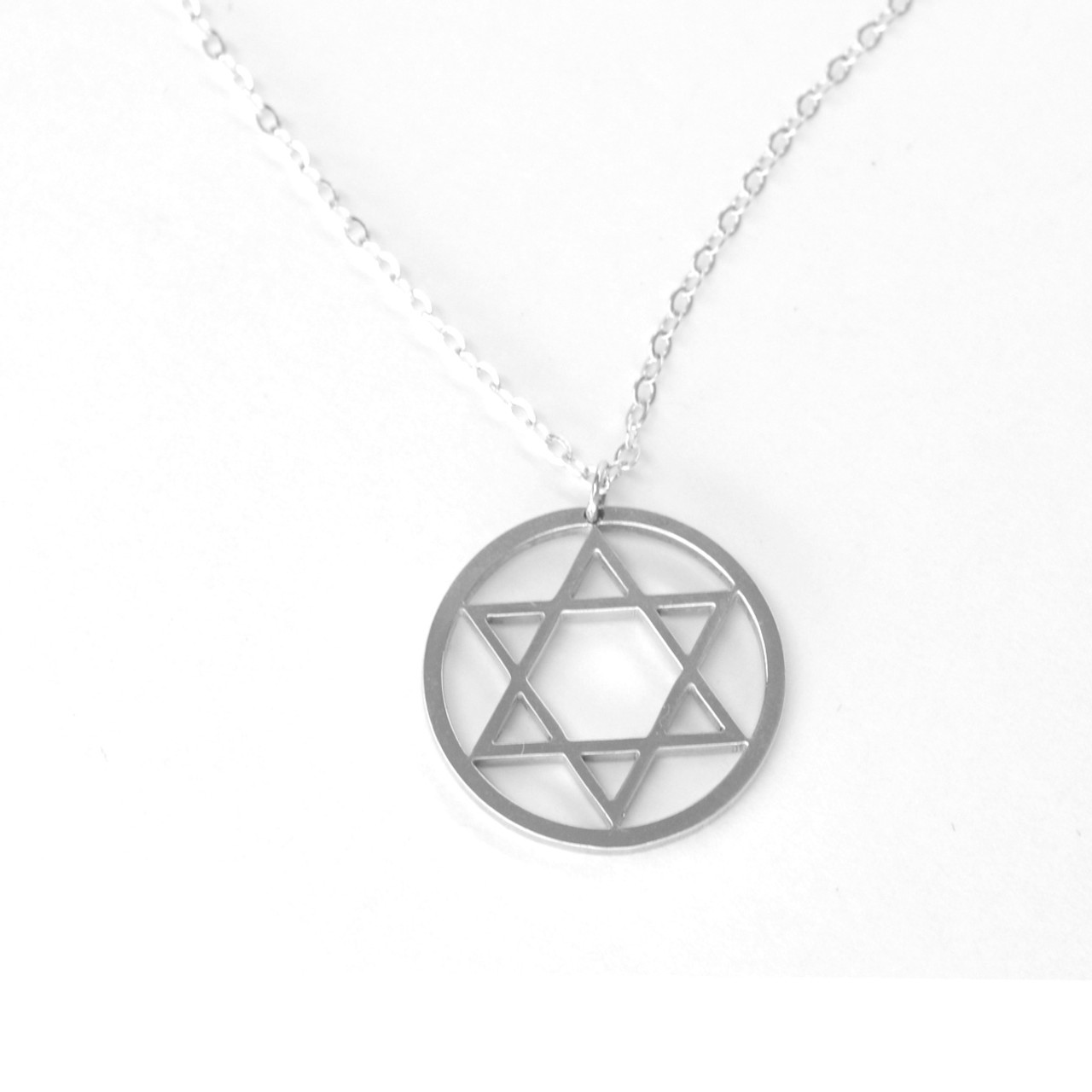 Star of david pendant necklace in argentium sterling silver aloadofball Image collections