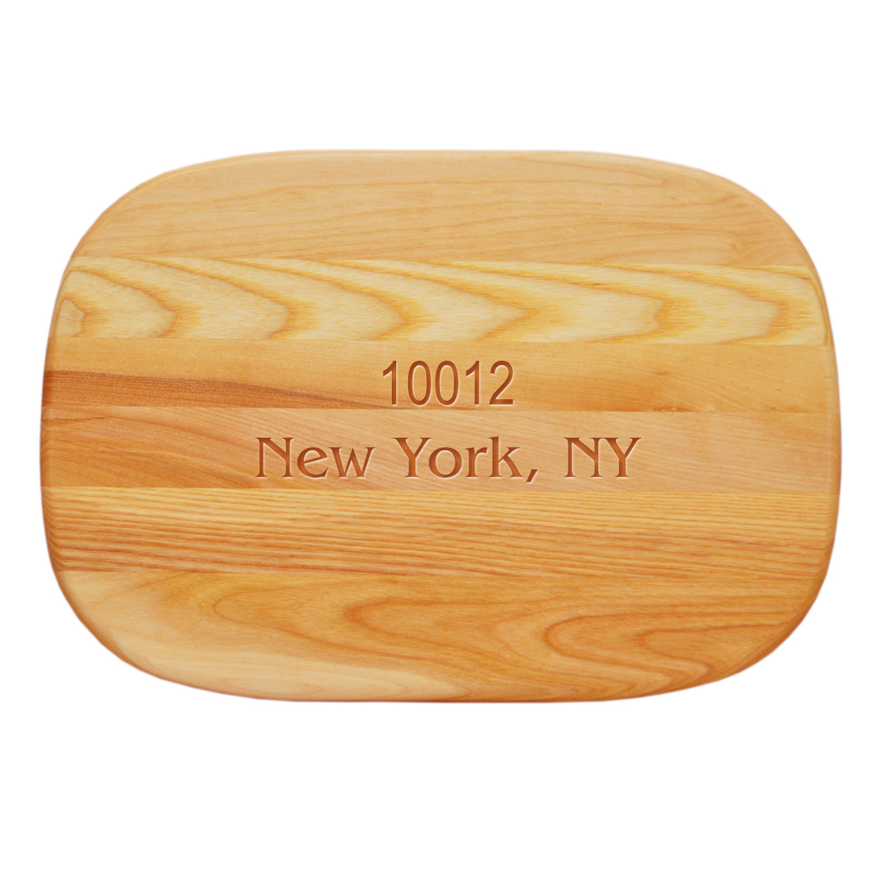 Medium everyday cutting board quot personalized zip