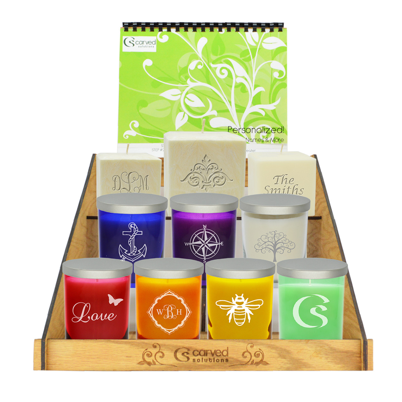 carved solutions personalized candle retail program carved solutions