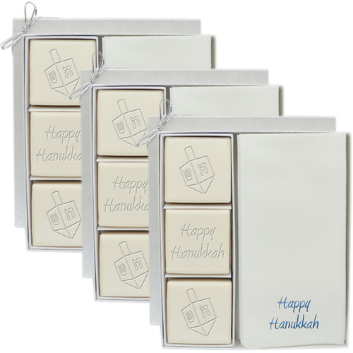 Eco-Luxury Courtesy Gift Sets - Dreidel Mix (Set of 3)