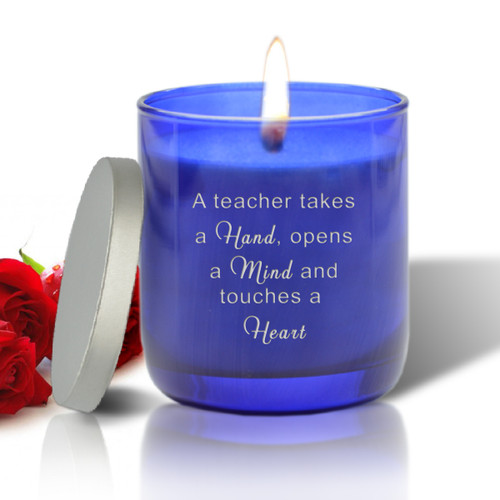 BLUE COLLECTION CANDLE: HANDS MINDS AND HEARTS