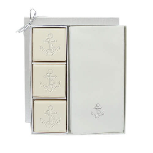 Eco-Luxury Courtesy Gift Set - Silver Anchor
