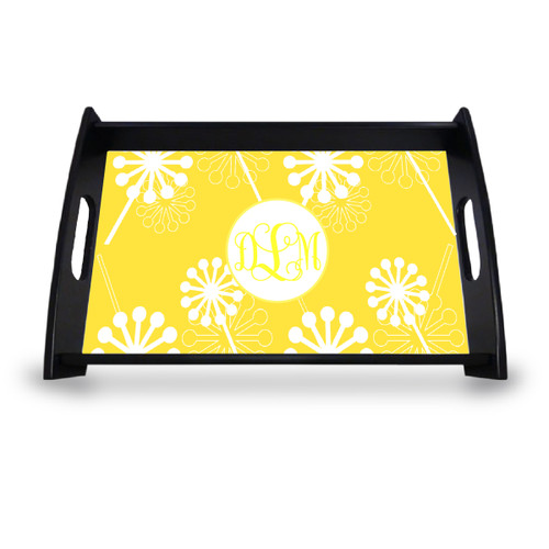 Personalized Serving Tray - Verbena Vine Monogram