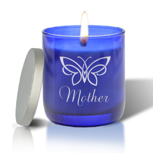 BLUE COLLECTION CANDLE: BUTTERFLY FOR MOM