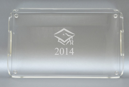 PERSONALIZED SERVING TRAY WITH HANDLES: CLASS OF 2014