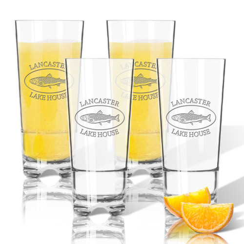 Tritan High Ball Glasses 16 oz (Set of 4) : Lakehouse and Trout