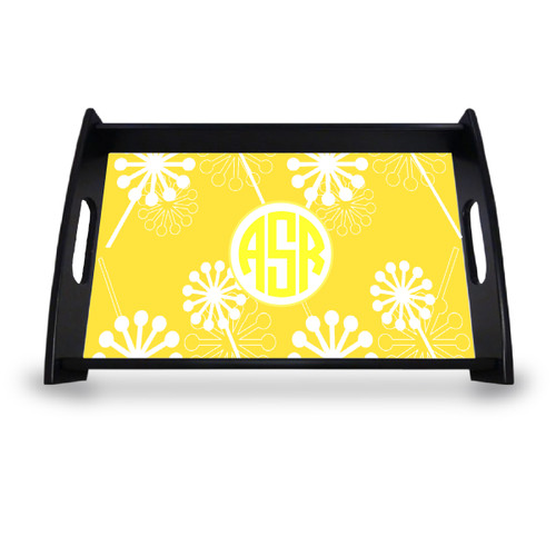 Personalized Serving Tray - Verbena Circle Monogram