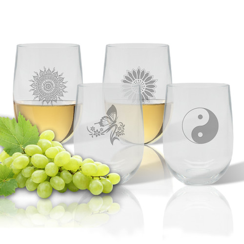 Stemless Wine Tumbler  (Set of 4) : Solstice