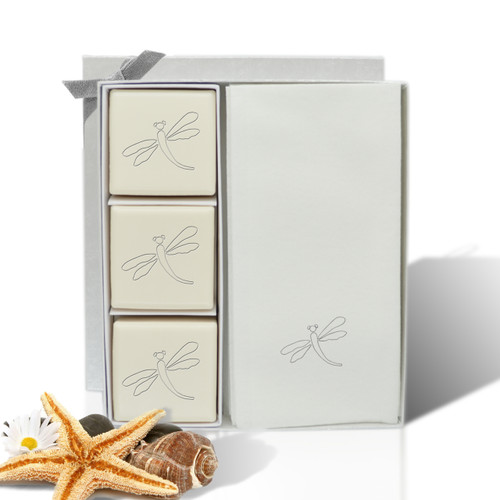 Eco-Luxury Courtesy Gift Set - Silver Dragonfly