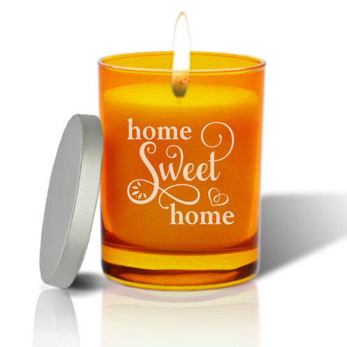 Topaz Soy Glass Candle - Home Sweet Home