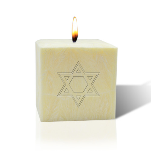 "3"" Pure Aromatherapy Palm Wax Candle - Star of David"