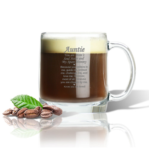 LARGE MUG (GLASS) : AUNTIE