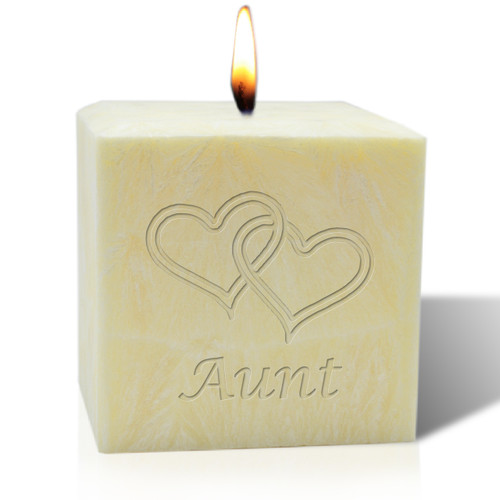 """4"""" Pure Aromatherapy Palm Wax Candle - Hearts for Aunt"""