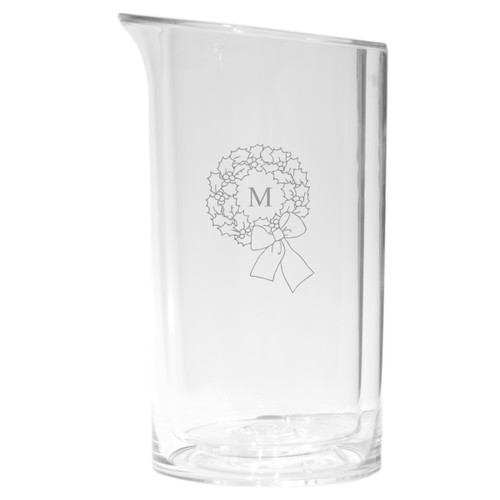 Personalized Iceless Wine Bottle Cooler - Initial Wreath