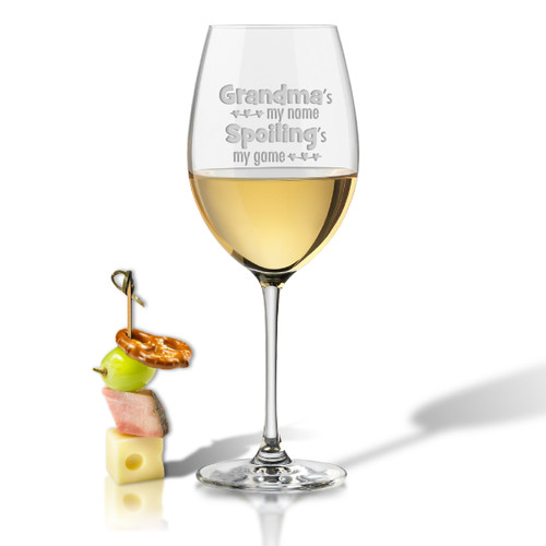SINGLE WINE STEM – (GLASS) - GRANDMA'S MY NAME
