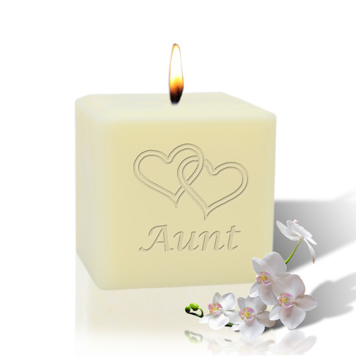 "3"" Soy Pillar Candle - Hearts for Aunt"