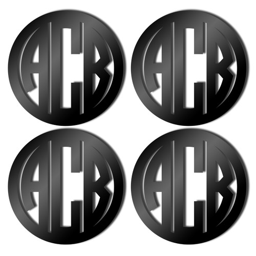 Black Acrylic Coasters, Set of 4